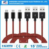 Cavo Braided del USB del micro della corda del panno tessuto nylon per il telefono mobile di Samsung