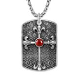 Acero del titanio de la joyería de la manera del color del colgante 3 del collar de la cruz de la etiqueta de perro
