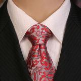Laços de seda tecidos Handmade dos homens do nó perfeito 100%