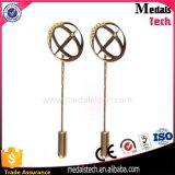 Pin largo de la solapa de la aguja del juego del metal de la venta directa de la fábrica con insignia de encargo