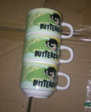 Tazza pieghevole piegante della tazza di caffè della tazza di ceramica di sovrapposizione