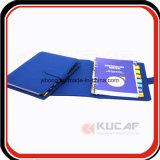 Mappen-Leder-Notizbuch-täglicher Planer des Zoll-6 O