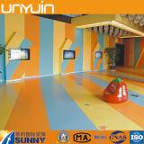 Suelo elástico del PVC de la buena calidad/buen rodillo del suelo del vinilo de la esponja/de la espuma