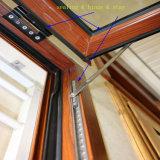 Aluminiumflügelfenster Glaswindows mit Vorhang-örtlich festgelegten Teilen nach innen