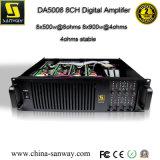 Da5008 8 채널 900W 입체 음향 디지털 종류 D 전력 증폭기