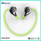 O esporte sem fio Sweatproof do fone de ouvido de Bluetooth impermeável para o esporte, escuta a música