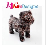 Caixa cerâmica da coleção do dinheiro do decalque da cópia do leopardo do estilo do cão do OEM