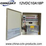 18 bloc d'alimentation de ch 12V pour les appareils-photo de télévision en circuit fermé (12VDC10A18P)