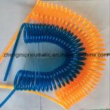 Прозрачный-Blue PU Coil Hose (твердость 95A)