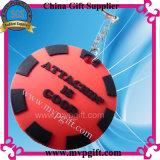 Keychain di gomma per il regalo di plastica dell'anello chiave