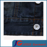 Version europeo di Cotton Denim Jacket (JC7049) di Slim Frosted Breathable Men