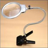 LEDライトハンドルの机クランプ読書拡大鏡ランプかルーペ(EGS-15123-C)