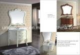Armário de madeira contínuo impermeável novo da vaidade do banheiro do PVC