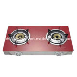 2개의 가열기 Tempered Glass Top 100#Aluminum Burner Gas Cooker Stove