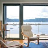 住宅のための最新のデザイン緩和されたガラスの機密保護のドア(FT-D80)