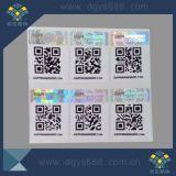 Sticker van de Laser van Qr de Code Afgedrukte