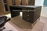 Tableau à la mode d'ordinateur de bureau de cuir de meubles en métal (B1)