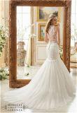 Robes de mariage à gradins de sirène de lacet de robe nuptiale d'amoureux