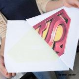 Papel ligero de la sublimación del algodón de la prensa del calor del papel de traspaso térmico de la camiseta