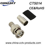 CCTV Male Crimp BNC Connector para Rg59 com inicialização curta (CT5014)