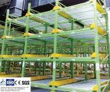 Prateleira de fluxo de caixa por armazenamento dinâmico com serviço pesado