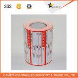 Etiqueta engomada de papel adhesiva impresa de la impresora del servicio de impresión de la escritura de la etiqueta del código de barras de Cmyk