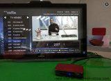 Rectángulo de la tapa del aparato de TV de la TV Online+ Con el papel de empapelar cambiable y el contenido libre