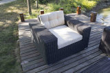 Aluminiumrahmen-Puder-Beschichtung-Ende Gaden im Freien heißes Verkaufs-Rattan-Sofa