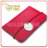 Promocional Creative Red PU Leather Business Card Holder