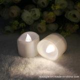 Wärmere weiße Kerzen der Wellen-Form-LED Tealight