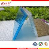 Le toit en plastique de polycarbonate lambrisse la feuille creuse de Jumeau-Mur