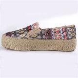 De Schoenen van het Canvas van de Schoenen van vrouwen met de Kabel RubberOutsole snc-28065 van de Hennep