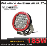 "4X4 Offroad Red Black Round 9 "" 185W LED Driving Light für Car Tractor"