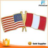 米国イギリスのフランスの国旗の折りえりPin