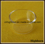 Ясная круглая низкопробная чашка Петри стекла кварца кремнезема с крышкой