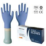 Напудренные перчатки экзамена нитрила (NGBL-PFL4.0)