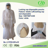 Lushing Cap e Elastic Cuff Disposable Poncho
