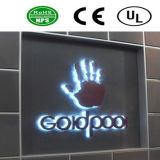 Lettrage imperméable à l'eau de vente chaud pour le Signage de rétroéclairage de signes