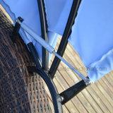 Ротанг Wicker круглое Sunbed с регулируемой сенью
