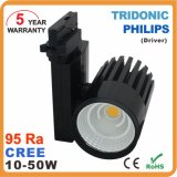 diodo emissor de luz de 2wire 3wire 30W 40W 50W Dimmable COB Track Light