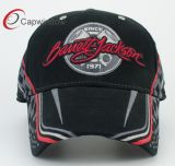 Bordado en 3D de la gorra de béisbol de algodón Racing
