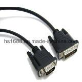 Mâle élevé de la définition DVI au câble mâle du VGA avec la jupe de PVC