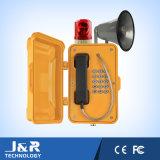 O telefone à prova de intempéries ao ar livre, intercomunicador industrial, constrói uma ponte sobre o telefone Emergency