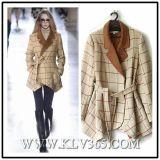 Пальто куртки 2016 шерстей зимы модельера женщин
