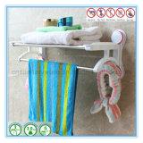 Держатель шкафа рельса двойной штанги полотенца ванной комнаты крома нержавеющей стали
