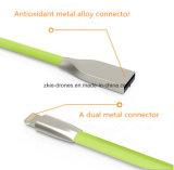 Câble usb coloré de foudre pour le téléphone mobile Handphone
