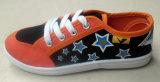 新式の子供の印刷のズック靴の注入の靴(HH1613-1)