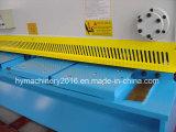 Máquina de corte da guilhotina hidráulica do controle de QC11y-8X2500 E21s, maquinaria da estaca da placa de aço