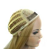 Способа парик синтетики парика блондинкы 3/4 длиной курчавое половинный головной
