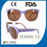 Eyeglasses materiais polarizados personalizados de Sun das lentes cor desobstruída